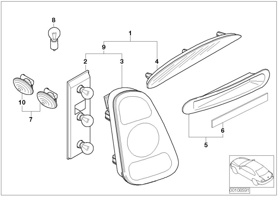 2007 Mini Cooper Parts Diagram Lights. Mini. Auto Wiring