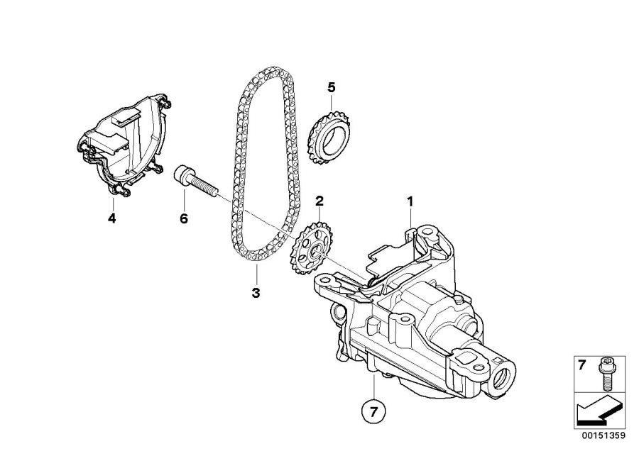 2007 MINI Oil pump. Lubrication, System, One, Engine