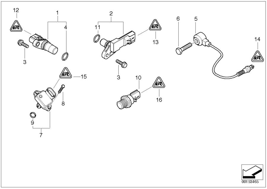 2004 MINI Cooper Pulse generator, crankshaft. Convertible