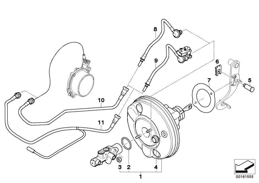 2009 MINI Cooper S Vacuum line with pressure sensor. Unit