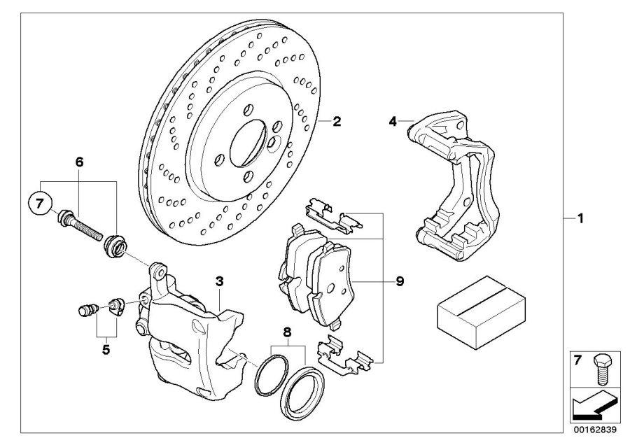 2009 MINI Cooper Repair set brake caliper. Convertible