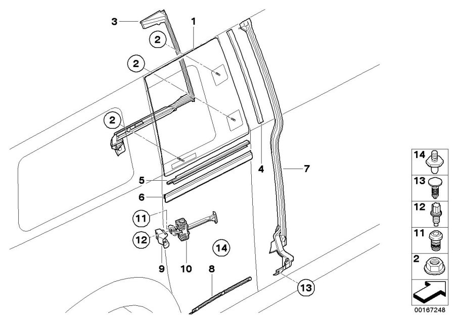 MINI Cooper Clubman Insert, trim strip, Clubdoor. Works