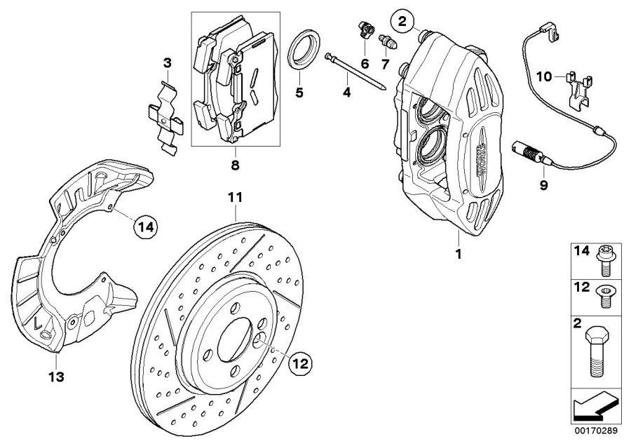 2008 MINI Cooper S Collar screw. M12X1, 5X32 ZNS3. Works