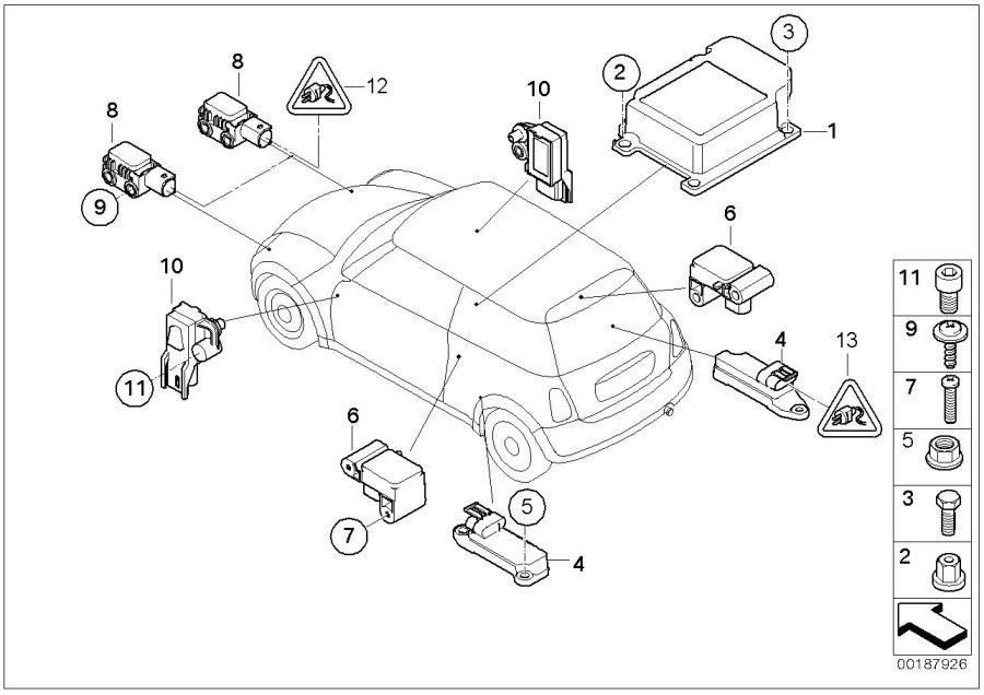 MINI Cooper Sensor door. Airbag, Electric, Works