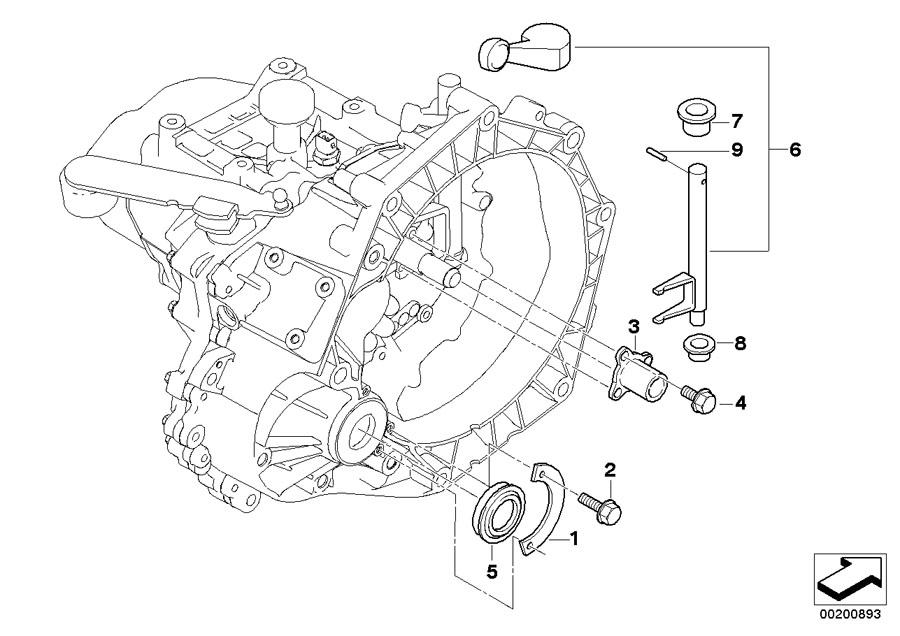 MINI Cooper Clutch rel.fork lever. Transmission