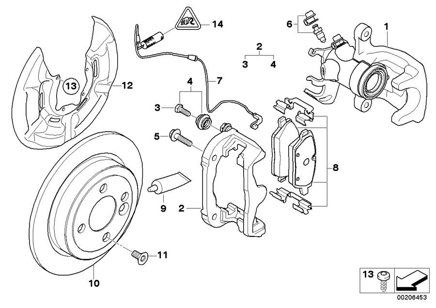 2008 MINI Cooper S Clubman Brake pad wear sensor. Works