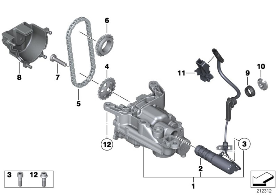 2011 MINI Countryman S Solenoid valve (SOLV). Works