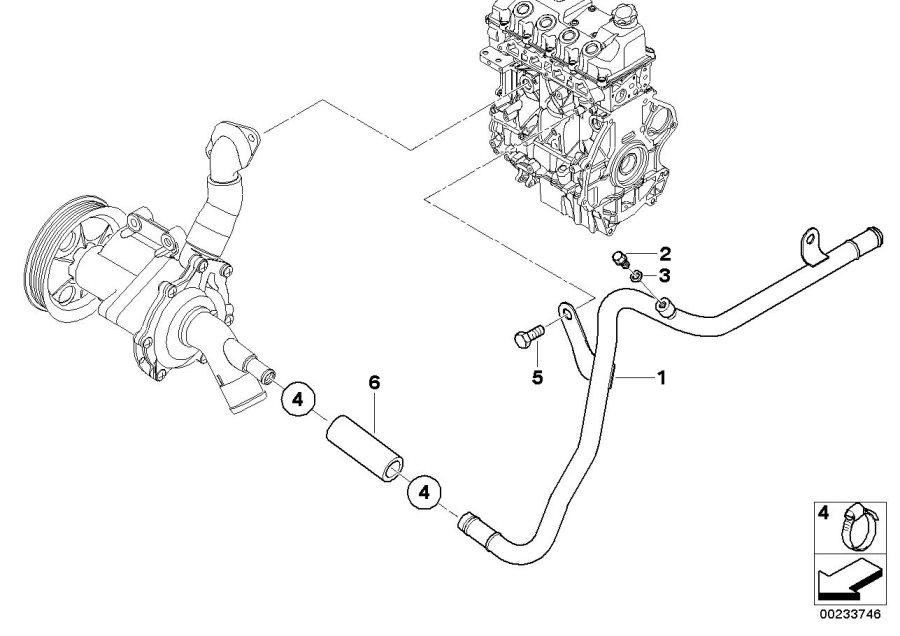 2006 MINI Cooper Coolant line. Engine, Cooling