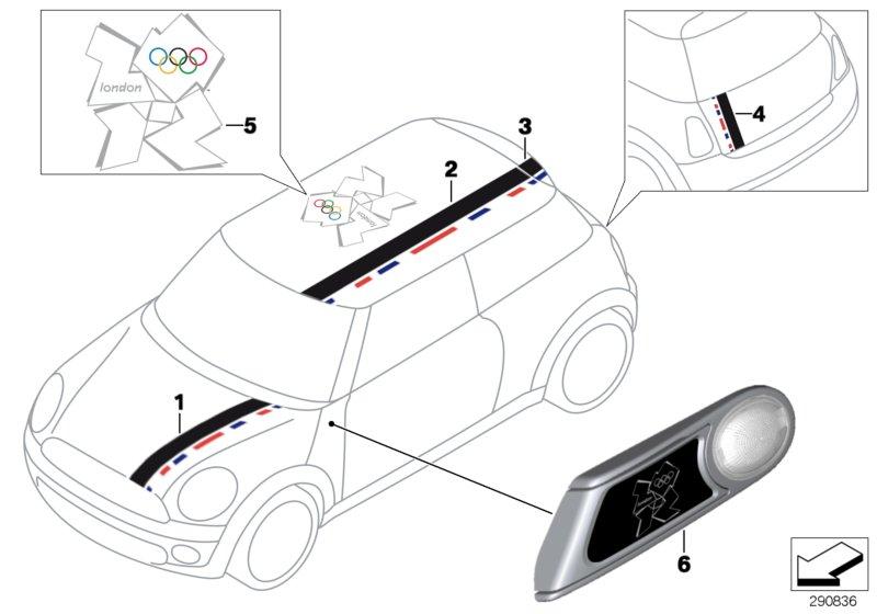 2014 MINI Cooper S Additional turn indicator lamp, left