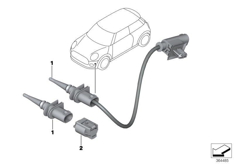MINI Cooper Clubman Repair kit, socket housing. 2 POL