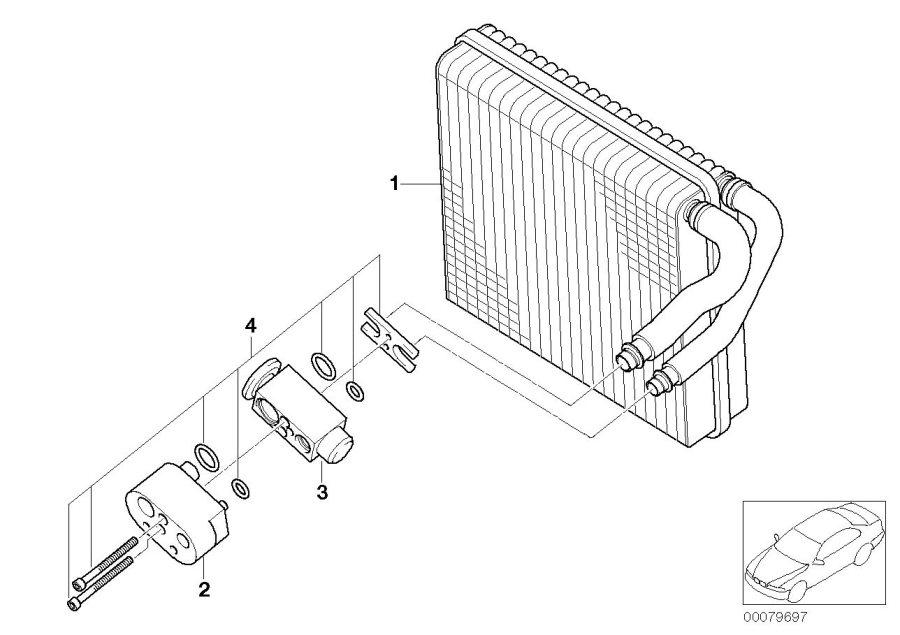 2005 MINI Cooper S Expansion valve. Evaporator