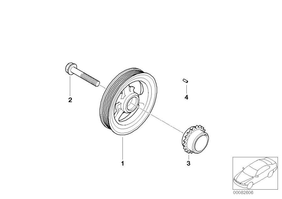 2004 MINI Cooper S Vibration damper. Belt, Drive