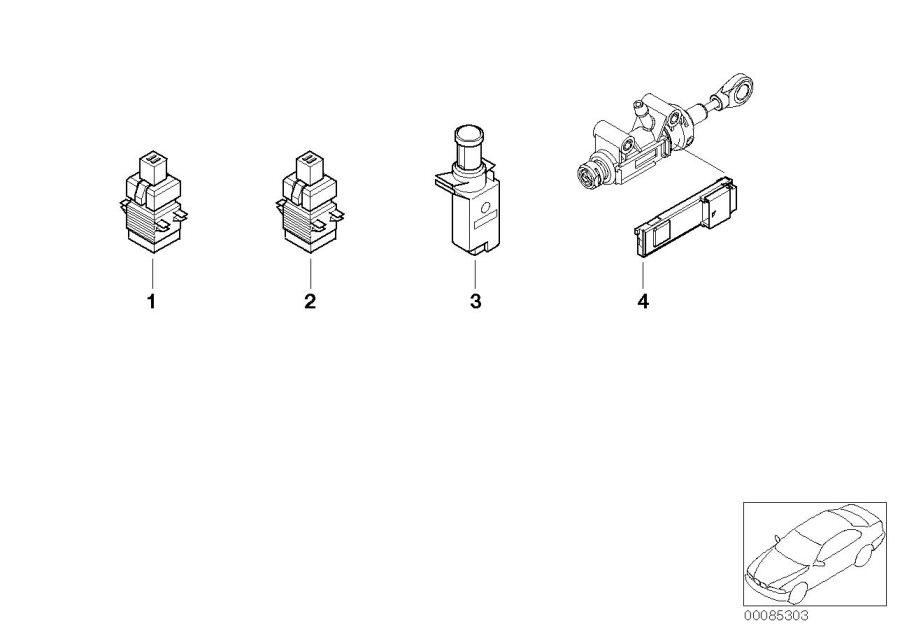 2004 MINI Cooper Module, clutch switch. Works, Convertible