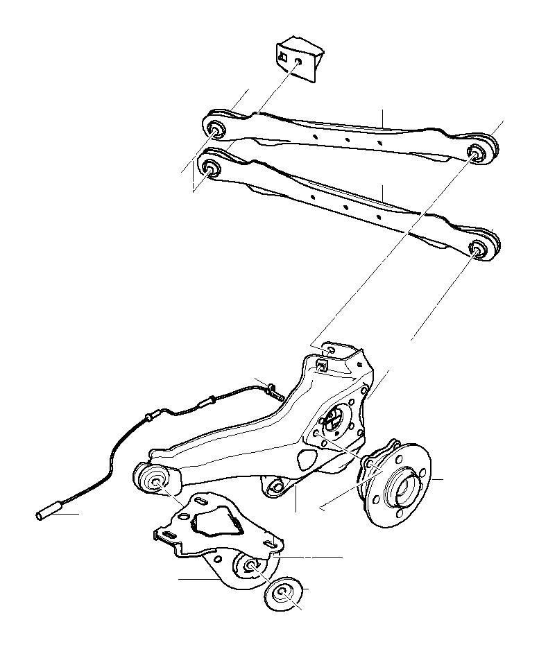 2008 MINI Cooper S Clubman Wheel hub with bearing, rear