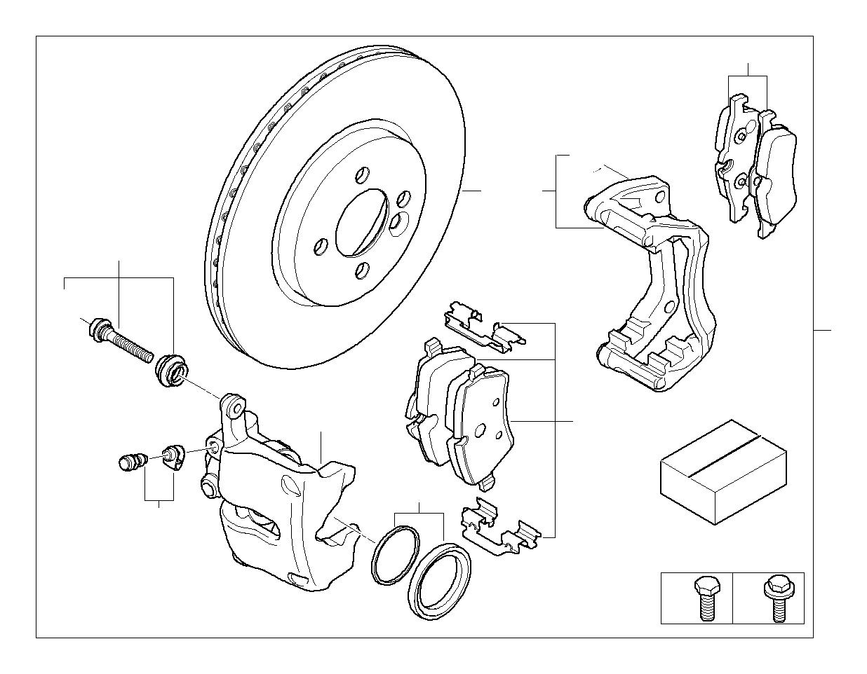 Mini Cooper Repair Set Brake Caliper Convertible