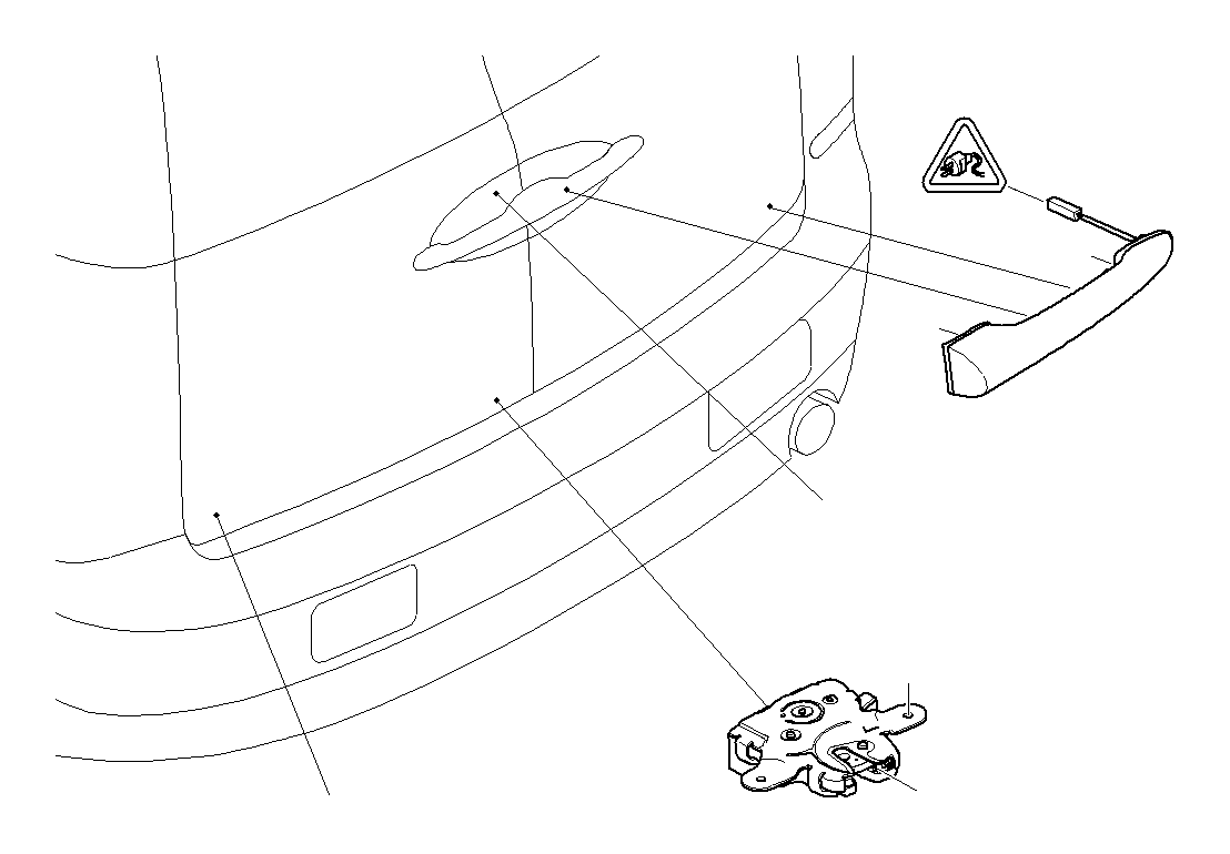 [2009 Mini Clubman Driver Door Latch Repair Diagram