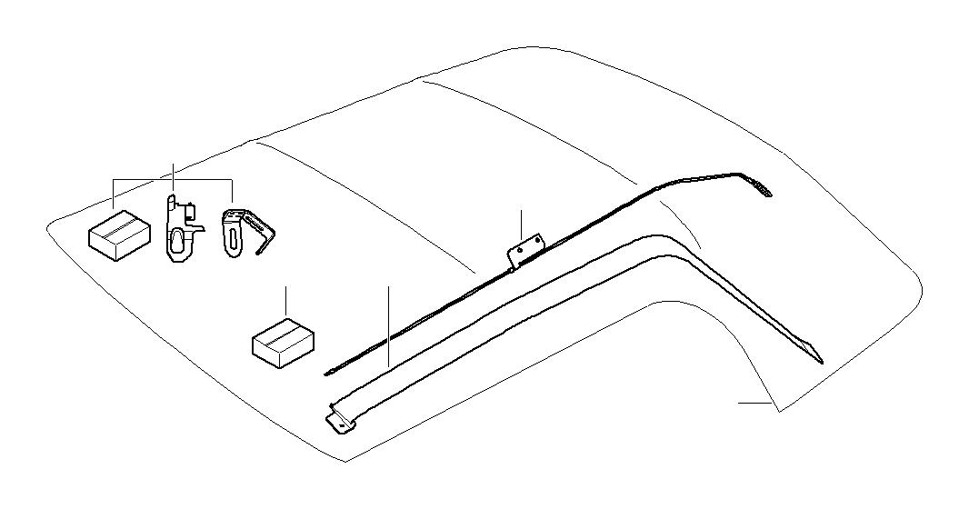 2005 MINI Cooper Convertible Left tension rope