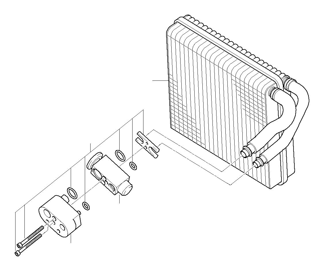 2003 MINI Cooper Expansion valve. Evaporator, convertible