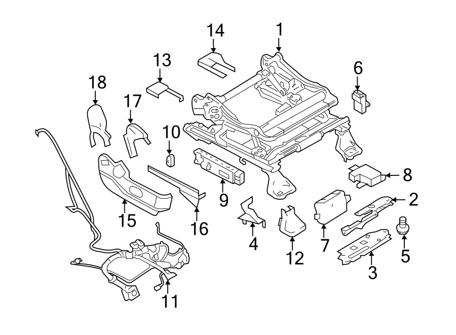 Lincoln MKX Power Seat Wiring Harness. PASSENGER SIDE