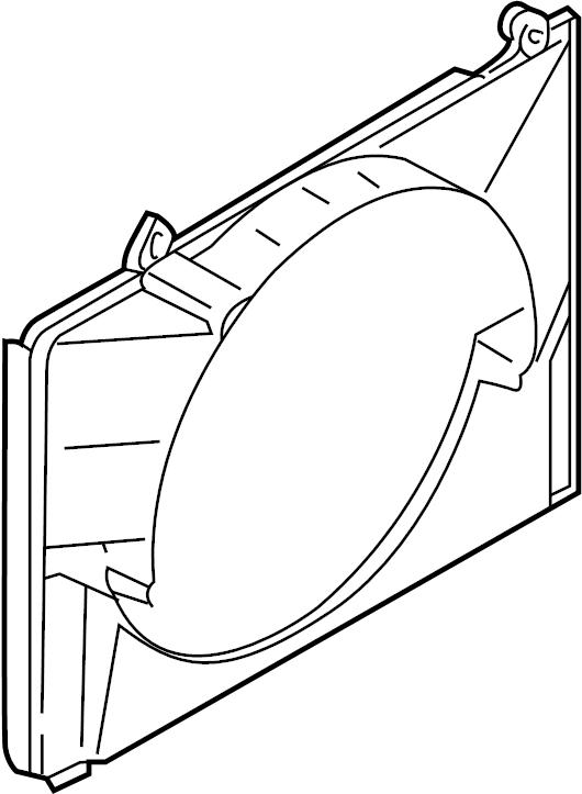 INFINITI QX4 Engine Cooling Fan Shroud (Upper). FITTING