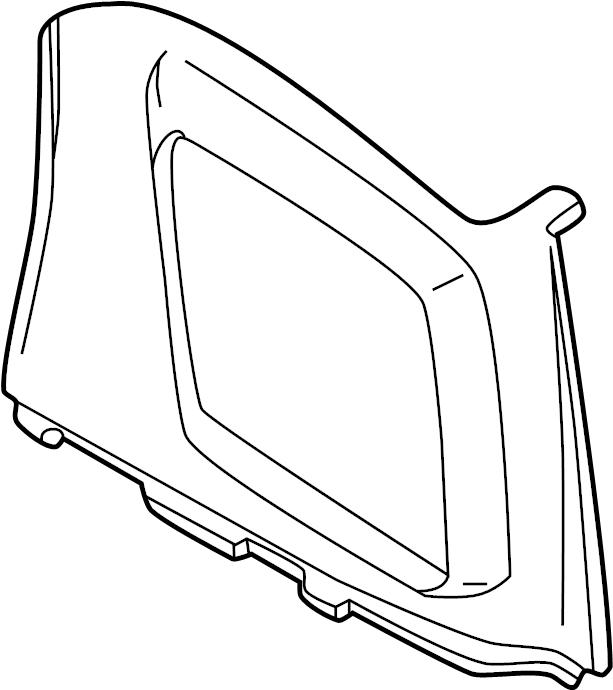 INFINITI QX4 Interior Quarter Panel Trim Panel (Right