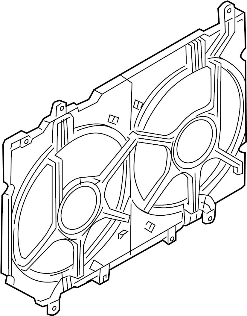 INFINITI Q45 Engine Cooling Fan Shroud. RADIATOR, FITTING
