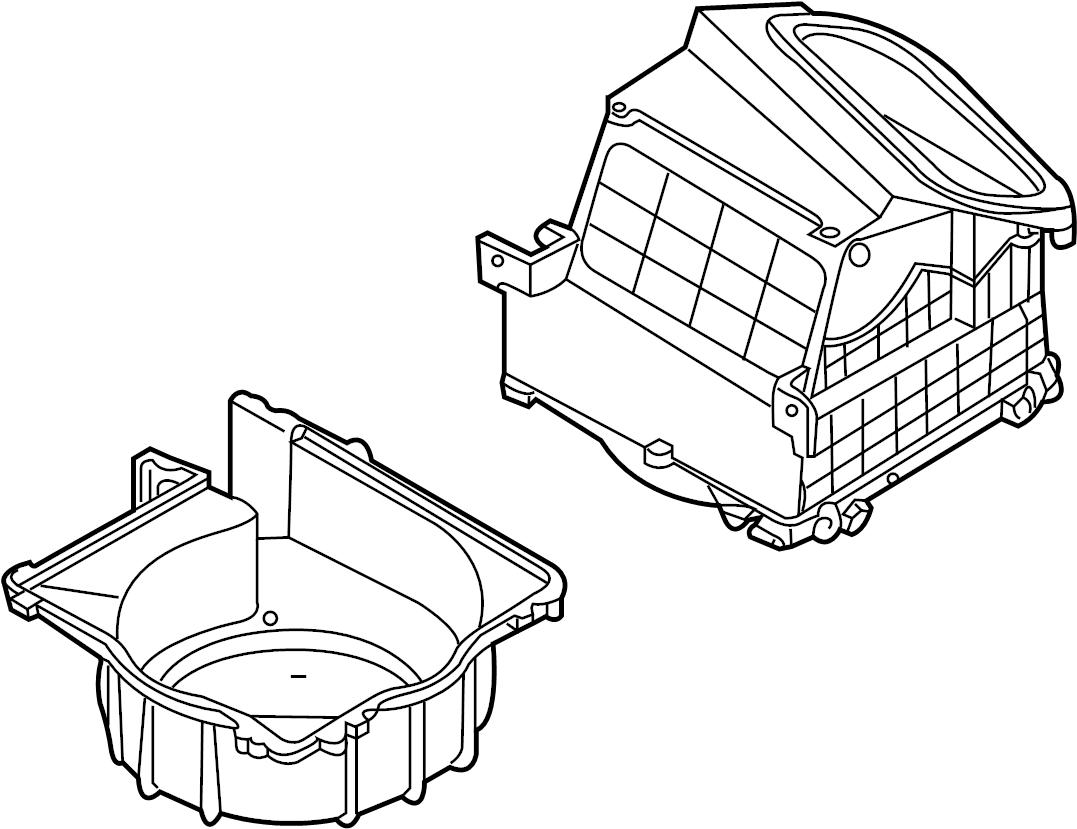 INFINITI G35 Hvac Blower Motor Housing (Lower). HEATER
