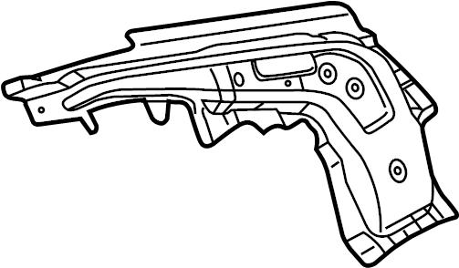 INFINITI G35 Quarter Panel Reinforcement (Left, Rear
