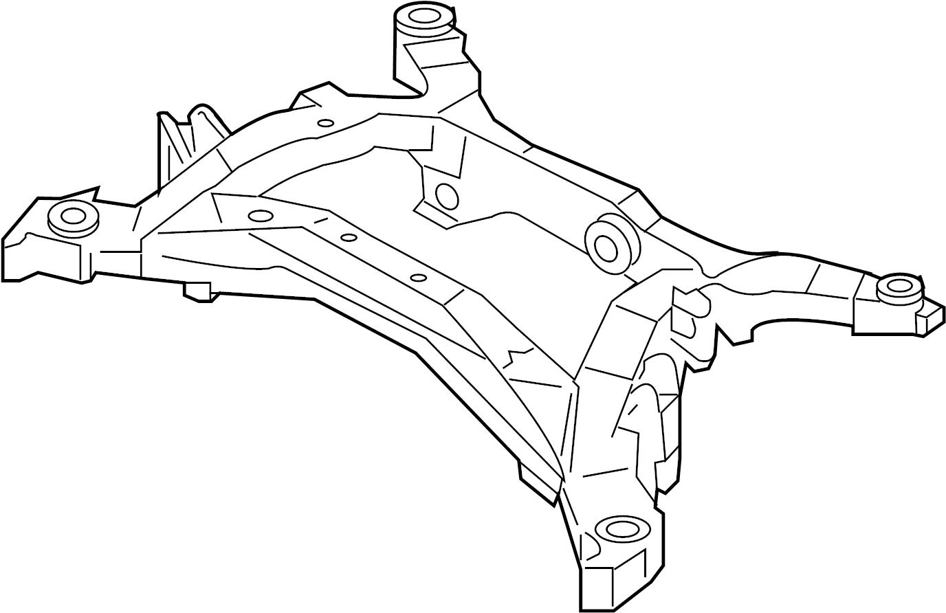 Infiniti G37 Suspension Subframe Crossmember Rear Awd