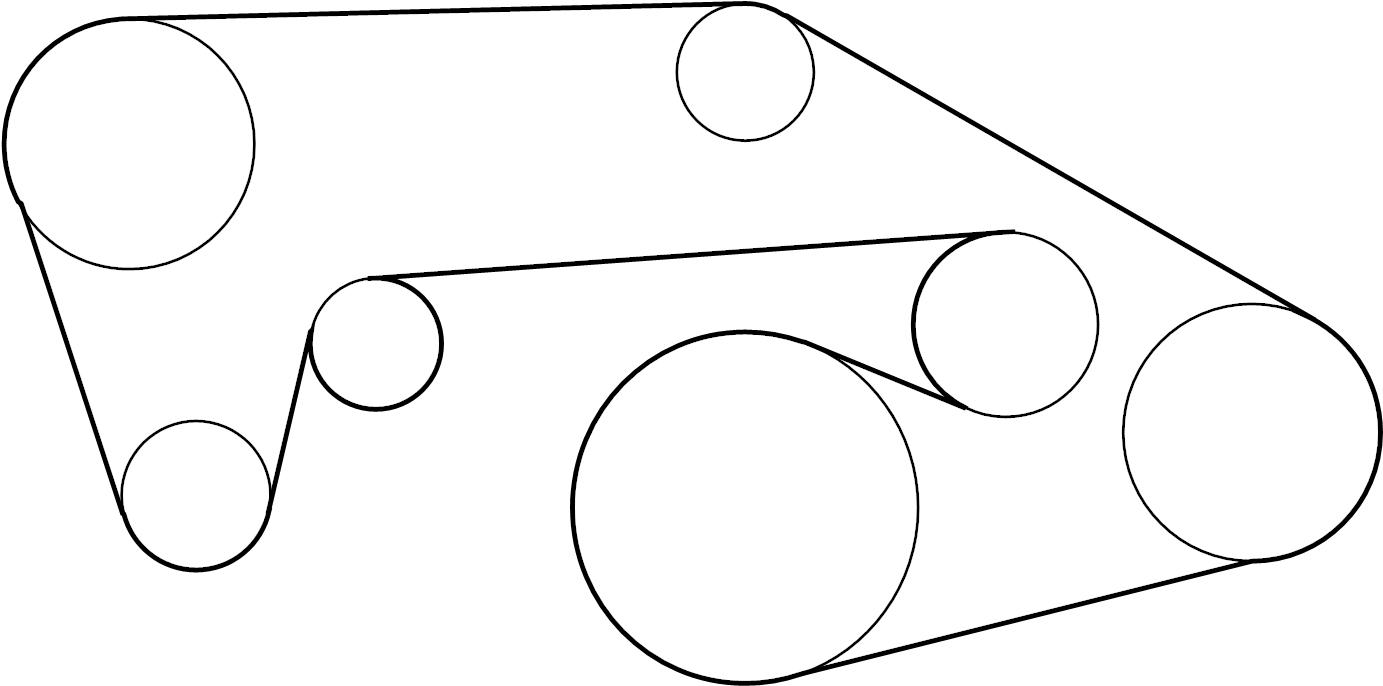INFINITI FX35 Serpentine Belt. COMPRESSOR, STEERING, POWER