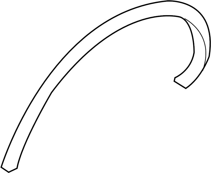 INFINITI FX35 Wheel Arch Molding (Left, Rear). BODY