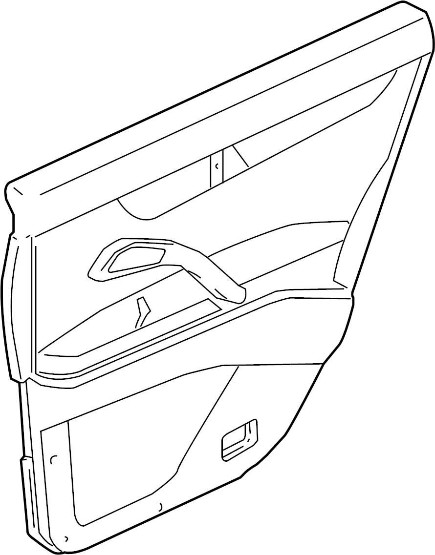INFINITI M45 Door Interior Trim Panel (Right, Rear). WOOD