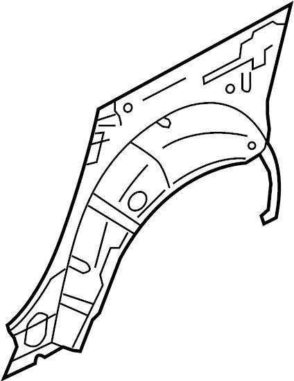 INFINITI M45 Wheel Housing Side Panel (Left, Rear). BODY