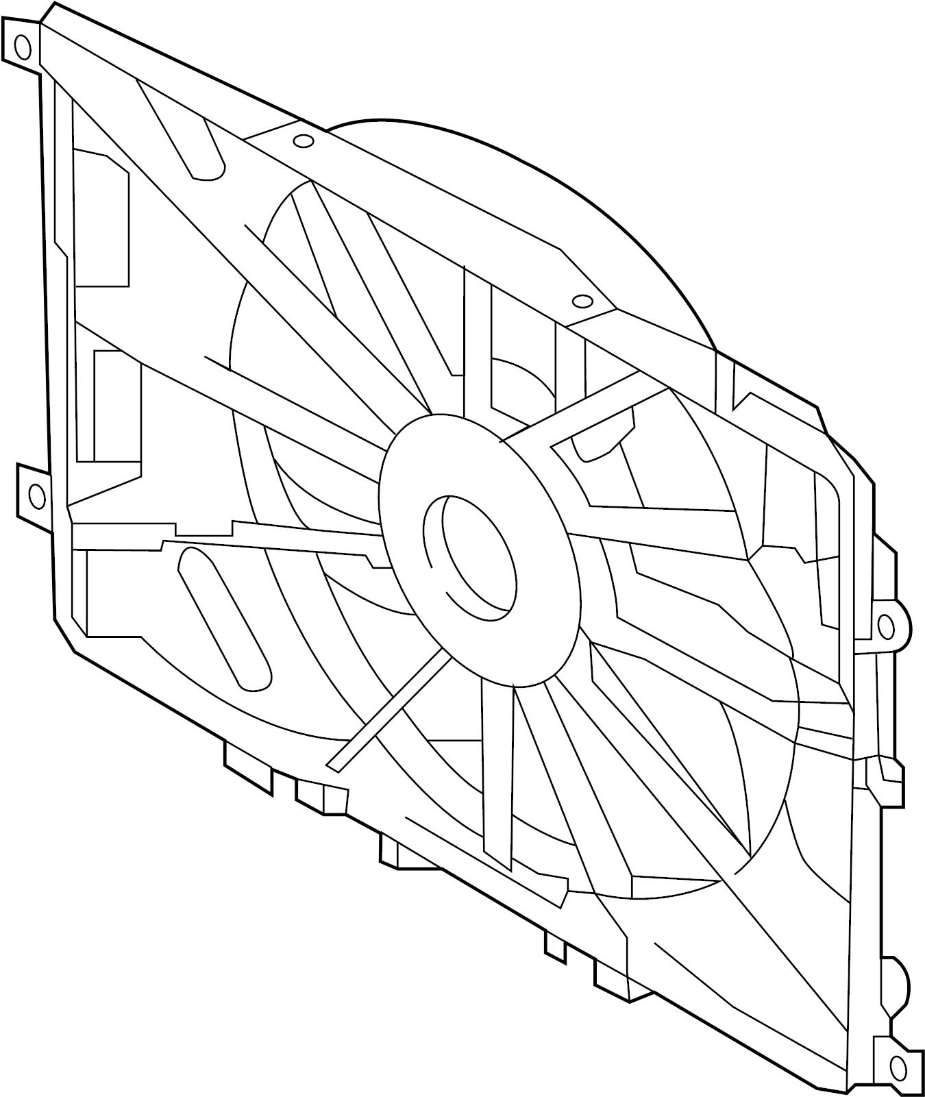 INFINITI I30 Engine Cooling Fan Motor. SHROUD, RADIATOR