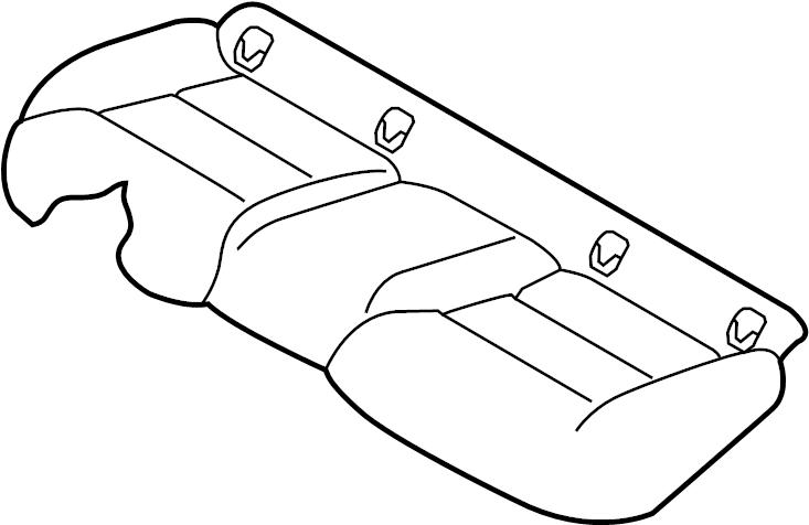INFINITI J30 Trim Seat Cushion. (Rear). Interior, FED, CAL