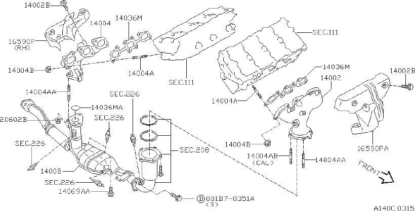 INFINITI I30 Exhaust Manifold Heat Shield. INTAKE, CAL