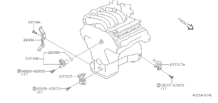 INFINITI I30 Engine Camshaft Position Sensor O-Ring