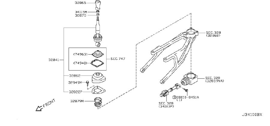 INFINITI QX56 Plate Guide. TRANSMISSION, CONTROL, LINKAGE