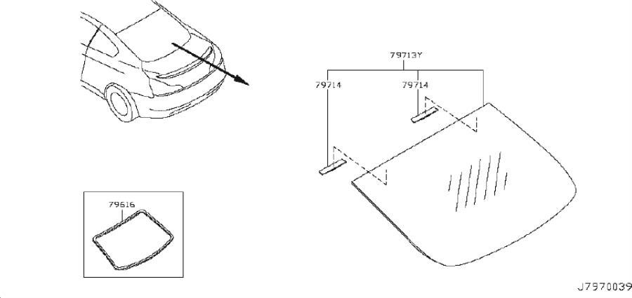 INFINITI G37 Spacer Sunroof Glass. BOSE, AUDIO, SATELLIT
