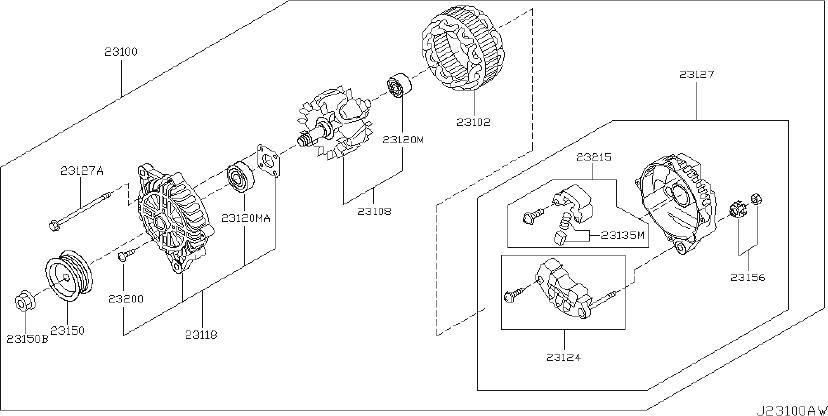 INFINITI Q45 Voltage Regulator. MITSUBISHI, ALTERNATOR