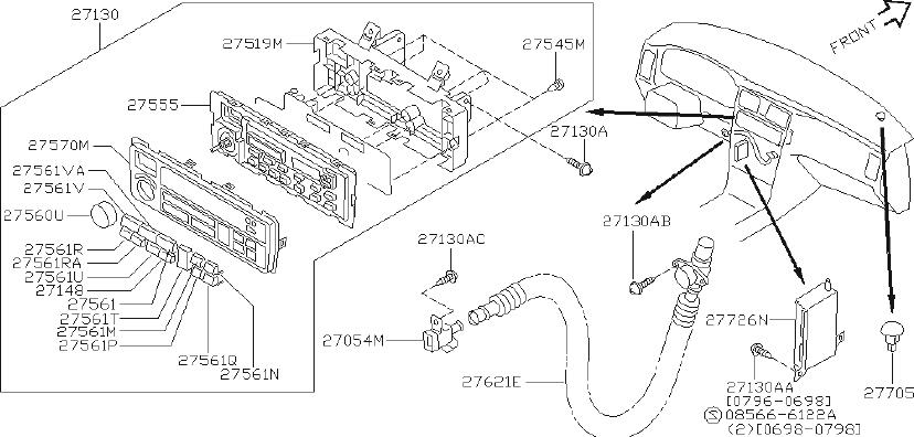 INFINITI Q45 Amplifier CONTOUR. Amplifier Control, Air