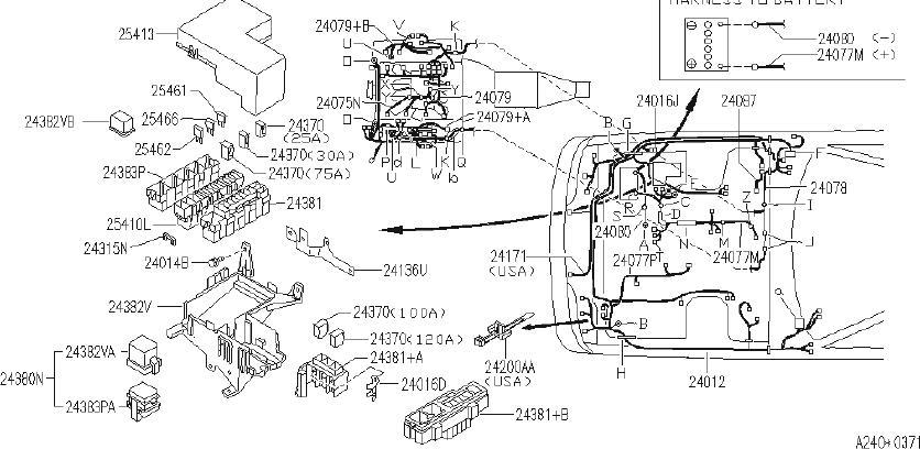 INFINITI Q45 Clip Wiring Harness, C. CAL, FITTING, FED