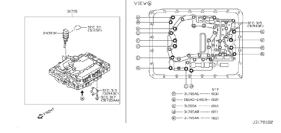INFINITI G37 Valve Control. Transmission, Driveline, ATM