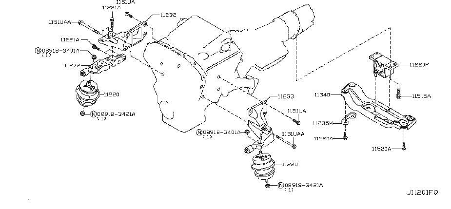 INFINITI EX35 Insulator Engine Mounting. (Right, Rear