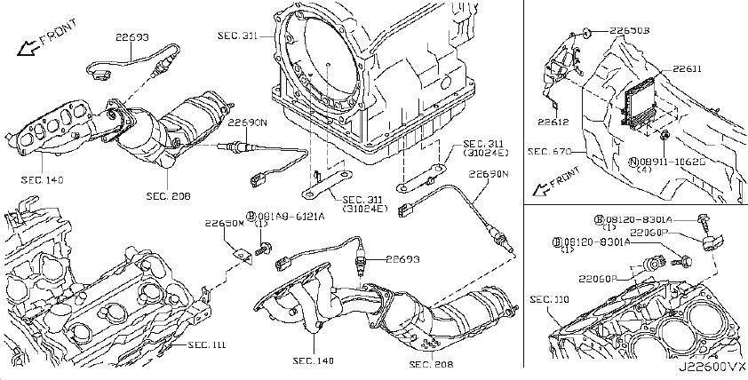 INFINITI EX35 Engine Control Unit. Powertrain Control
