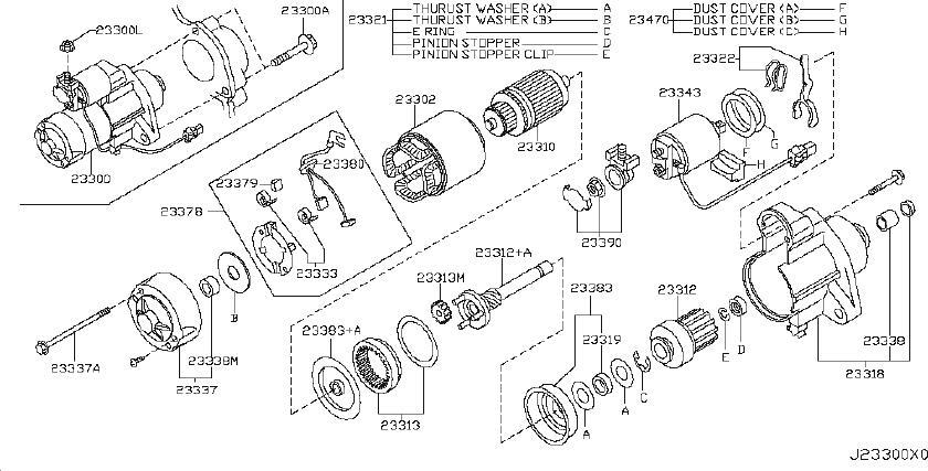 INFINITI EX35 Bearing Gear Case. Metal Gear Case. STATRT