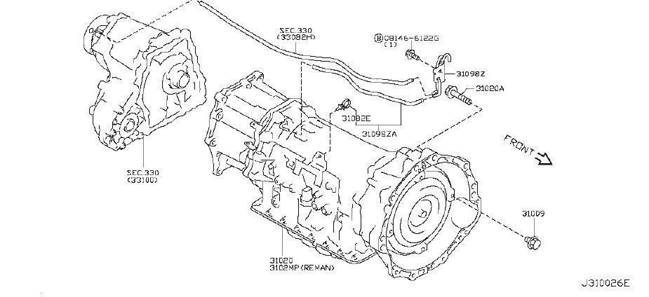 INFINITI EX35 Automatic Transmission. AWD, FITTING