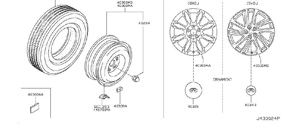 INFINITI EX35 Balance Weight Wheel. SIZE, WHEELTPMS, CLASR