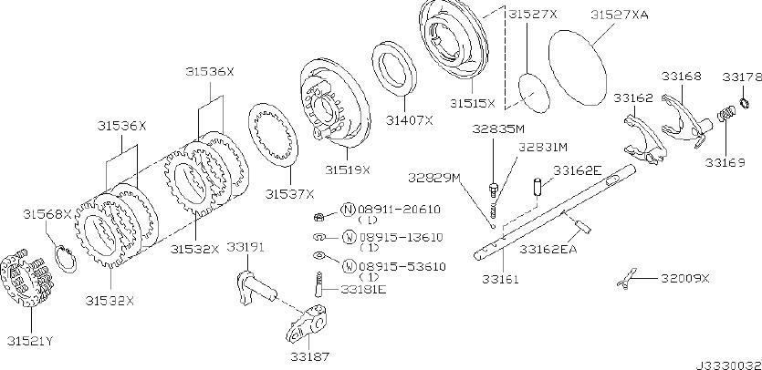 INFINITI QX56 Plate Retaining, Transfer. CONTROL, AUTO