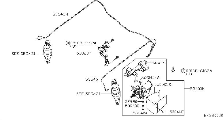 INFINITI QX56 Air Suspension Compressor. PACKAGE, TOW, BIG